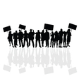 people silhouette vector image vector image