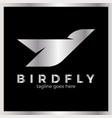 phoenix bird logo vector image vector image