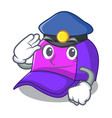 police cap shape in the a cartoon vector image