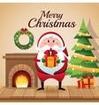 Santa cartoon of Christmas season design vector image