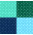 Set Blue Green Star Polka dot vector image vector image