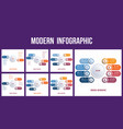 set infographic elements templates on two vector image vector image