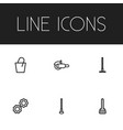 set of 6 editable instrument icons includes vector image vector image