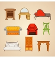 Set of of home furnishings vector image
