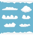 sky with clouds pixel art background vector image vector image