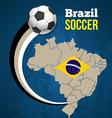 Soccer poster brazil vector image vector image