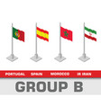 soccer world championship tournament group b vector image vector image