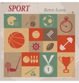 Sport flat retro icons vector image vector image