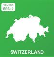 switzerland map icon business concept switzerland vector image vector image