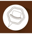 symbol hipster hat design icon vector image vector image
