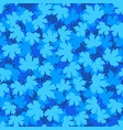tileable background with blue winter maple leaves vector image vector image