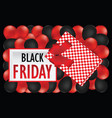 top view black friday sale design vector image vector image