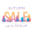 trendy autumn sale banner for autumnal shopping vector image vector image