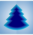 White and blue paper christmas tree vector image vector image