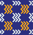zig zag right seamless pattern vector image