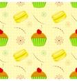 Dessert food pattern seamless patterns vector image