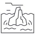 iceberg line icon sign on vector image