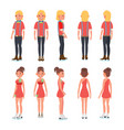 pair figure skating couple boy and girl vector image