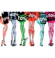 Banner - discount sale Fashion vector image