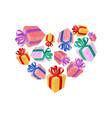 gifts heart i love gift i like holidays vector image