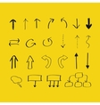 Hand drawn arrows and block scheme elements vector image