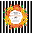 Save the date card with chamomile Marriage vector image