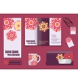 Set of presentation of flyer design content vector image