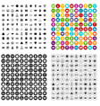 100 sweepstakes icons set variant vector image vector image