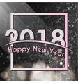 2018 happy new year glitter shining pattern vector image