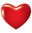 3d icon red shiny heart vector image vector image