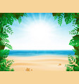 abstract summer vacation with nature decoration vector image