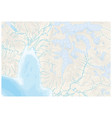 abstract topographic map with glaciers vector image