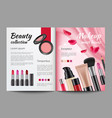 advertising cosmetics in magazine design template vector image vector image
