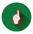 American football foam finger icon vector image vector image