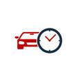 automotive time logo icon design vector image