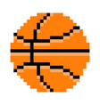 basketball pixel art cartoon retro game style vector image vector image