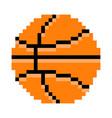 Basketball pixel art cartoon retro game style