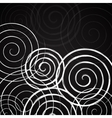 Black and white spirals background vector image vector image