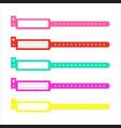 bracelet wristband set vector image vector image