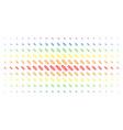 break chain link spectrum halftone matrix vector image vector image