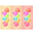 bubbles background with three lines vector image vector image