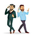 business men talking to each other on the phone vector image vector image
