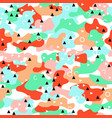 camouflage seamless pattern in a pink blue green vector image