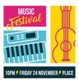 classical music festival vector image vector image