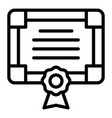 college diploma icon outline style vector image vector image