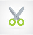 colored scissors trendy symbol vector image