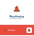 creative hat logo design flat color logo place vector image vector image