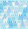 cute bunny seamless pattern background vector image vector image