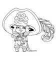 cute cartoon little boy in pirate costume vector image vector image