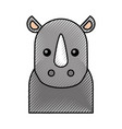 cute cartoon rhino baby animal wild vector image vector image